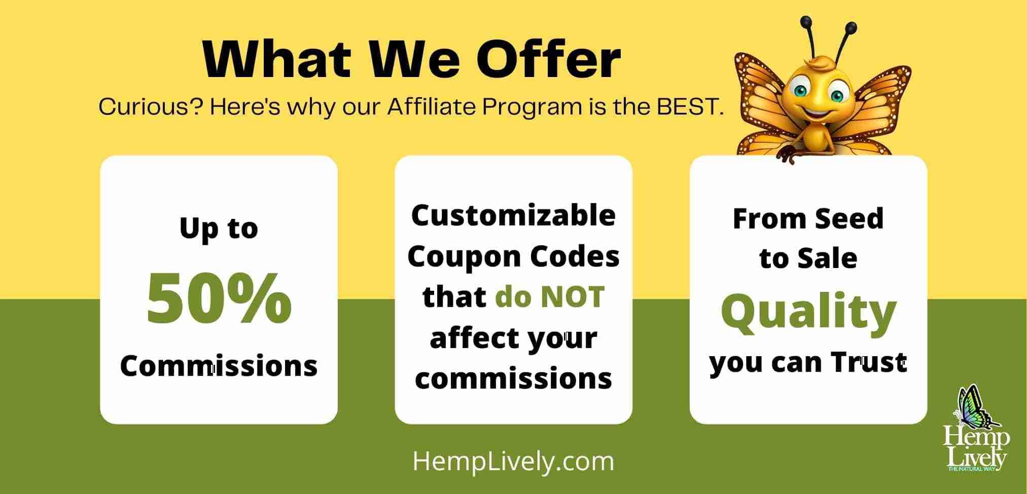 What We offer Hemp Lively Affiliate Program