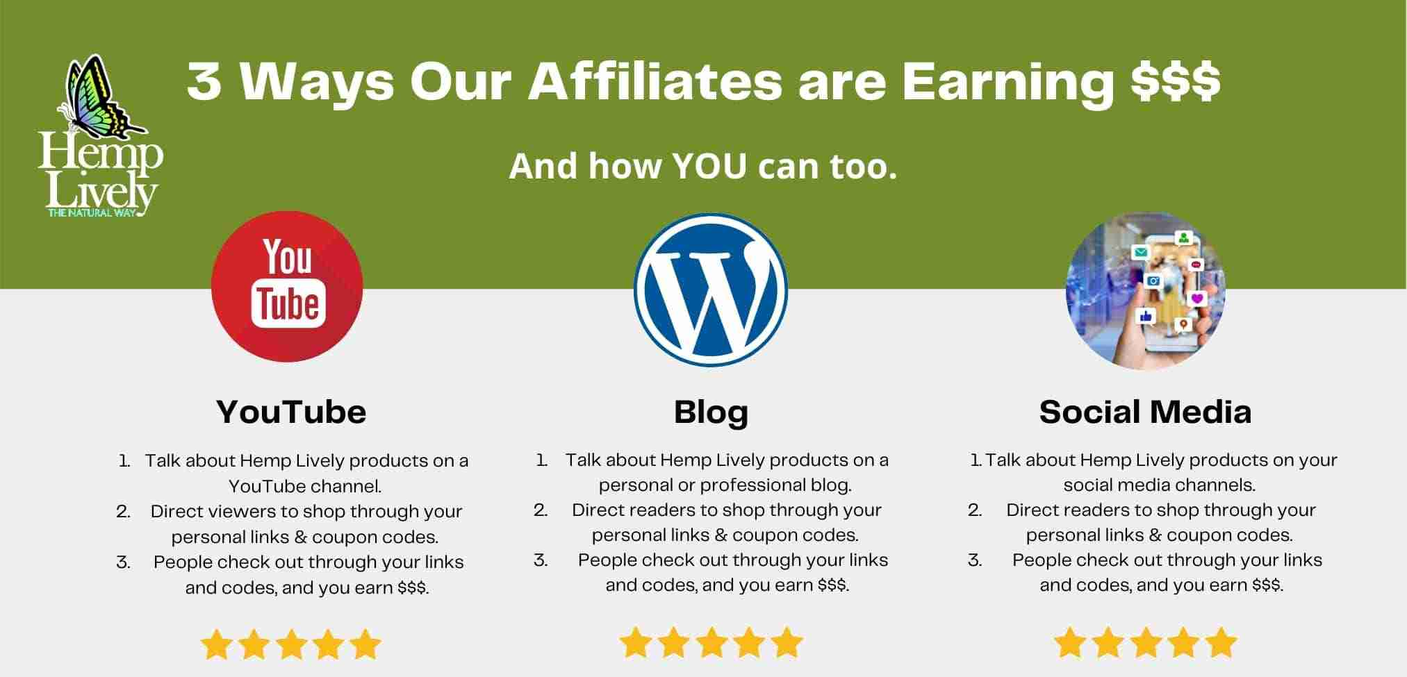 How Hemp Lively Affiliate are Earning Money and You Can Too
