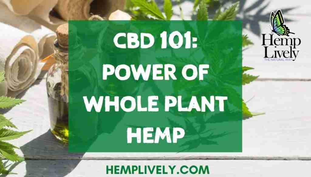 CBD 101 power of whole plant hemp