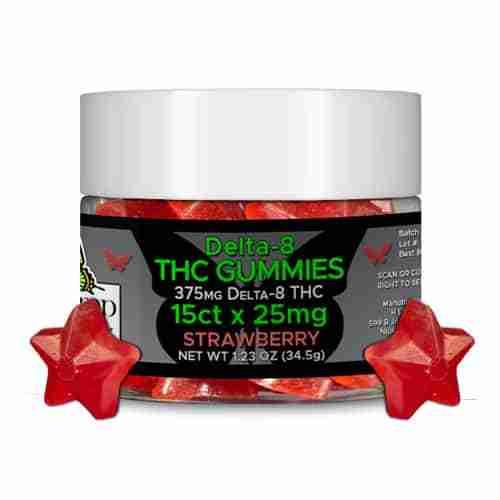 Hemp Lively Delta 8 THC Gummies Strawberry 25mg 15ct