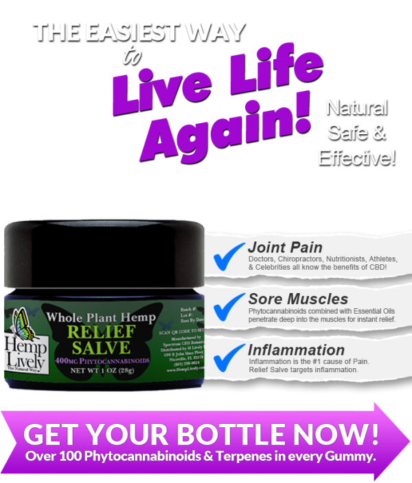 Hemp Lively Live Life Again with Whole Plant Hemp Relief Salve MOBILE