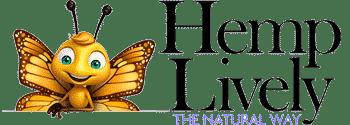 Hemp Lively Logo with butterfly