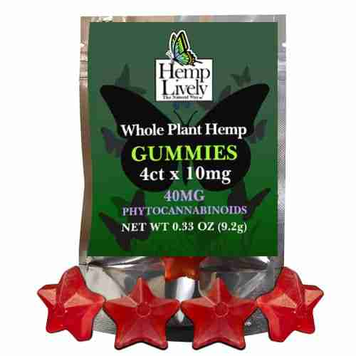 Hemp Lively Whole Plant Hemp Gummies 4ct 10mg ea