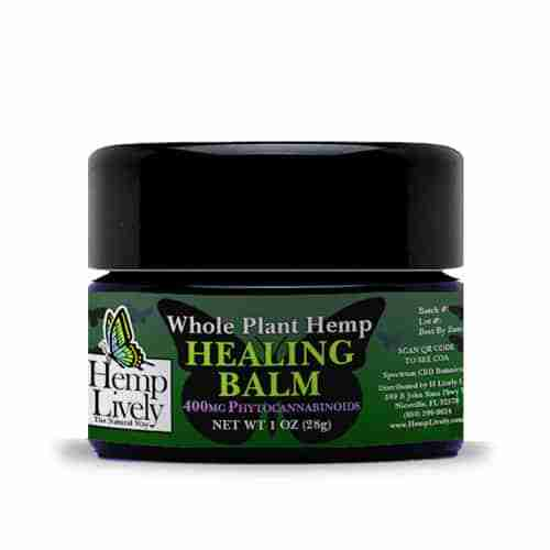 Hemp Lively Whole Plant Hemp Healing Balm 400mg Phytocannabinoids