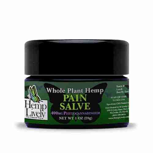 Hemp Lively Whole Plant Hemp Pain Salve 400mg Phytocannabinoids