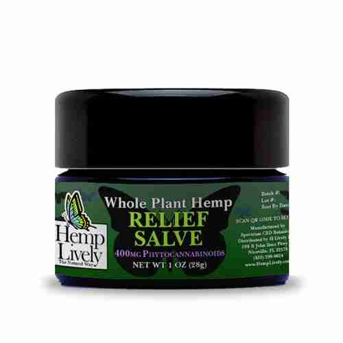 Hemp Lively Whole Plant Hemp Relief Salve 400mg Phytocannabinoids