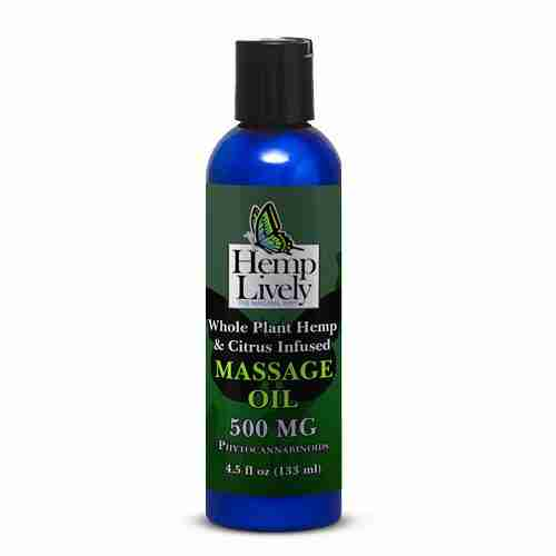 Hemp Lively Whole Plant Massage Oil 500mg Phytocannabinoids