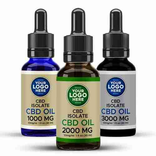 Private Label CBD Isolate CBD Tinctures Amber Blue Black Bottles