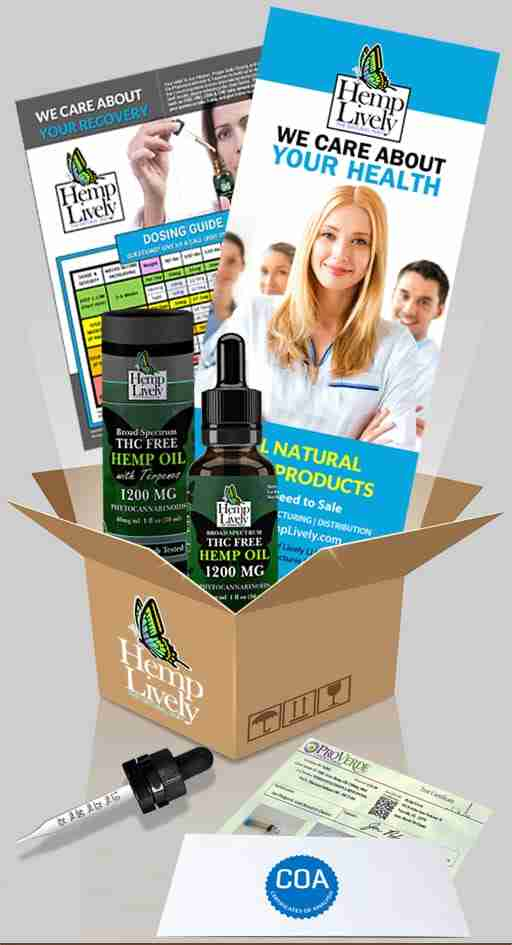 What you get with your order of Broad Spectrum THC Free Hemp Oil