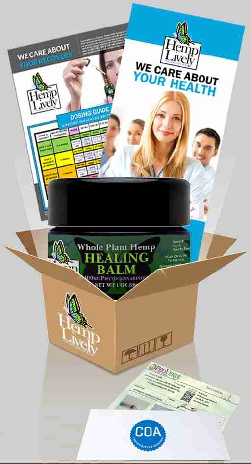 What you get with your order of Whole Plant Hemp Healing Balm