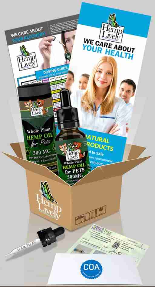 What you get with your order of Whole Plant Hemp Oil for Pets