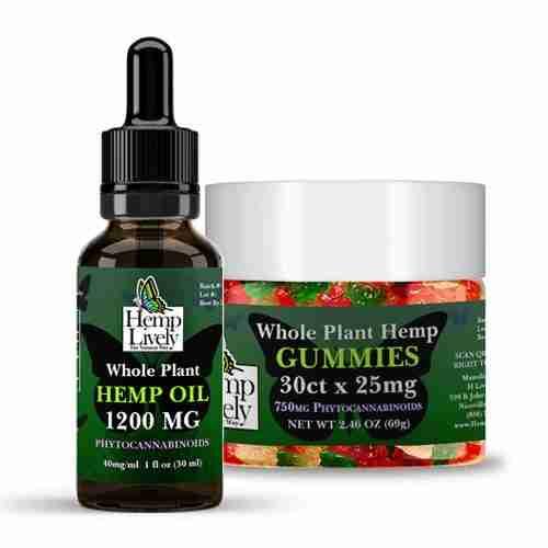 Whole Plant Hemp Oil and Gummies Sampler